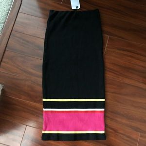 Zara ribbed midi skirt